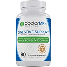 IBS Relief Supplement by Doctor MK's®, Compare to IBgard Ingredients, 90 Capsules of Enteric Coated Peppermint Oil, Treatment for Irritable Bowel Syndrome, Digestive Support Formula