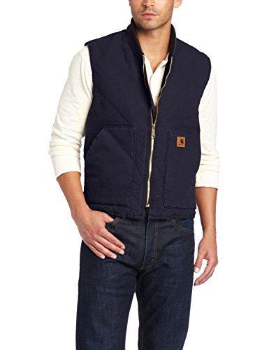 Carhartt Men's V02 Sandstone Vest Arctic Quilt Lined (Regular and Big & Talls Sizes), Midnight, Medium