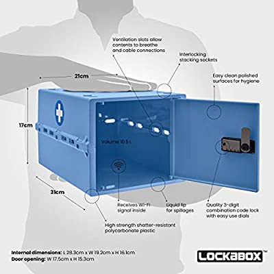 Lockabox One | Caja compacta e higiénica con cerradura para ...