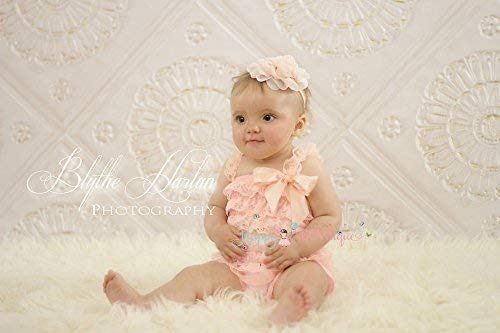 80eff3a768ff Image Unavailable. Image not available for. Color  2pcs Blush Peach Petti  Lace Romper ...