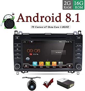 Android 8.0 8 pulgadas en tablero doble DIN coche estéreo ...