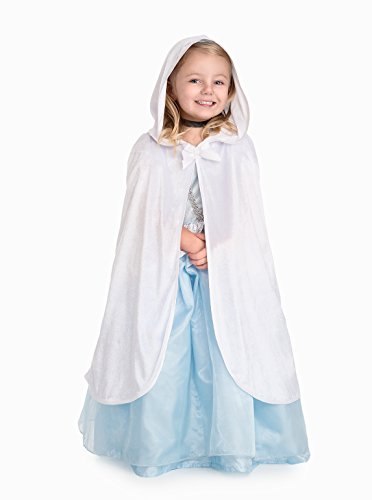 White Cloak Costumes (Little Adventures Traditional White Cloak Girls Costume - S/M (1-5 Yrs))