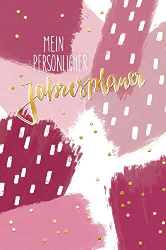 Mein persönlicher Jahresplaner: Trend-Design, Datum unabhängig, Jahresplaner zu selbst eintragen, große Wochenansicht auf Doppelseiten (German Edition) (Mein Großer Kopf Freund)