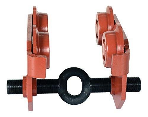1 Ton Push Beam Track Roller Trolley Crane Lift Garage Hoist Dual Wheels