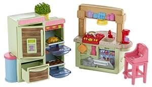 Fisher price loving family kitchen toys games for Fisher price loving family living room