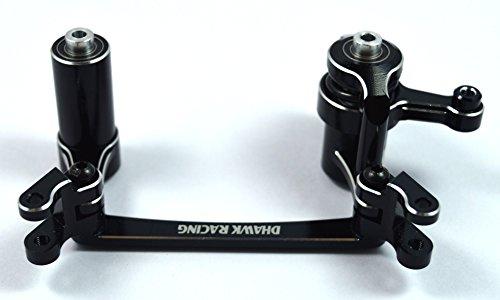 Dhawk Racing Aluminum Steering Bellcrank /w Bearing & Steering Posts Black For Yeti XL AX90032 AX90038