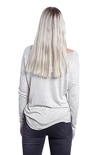 Abbino 6286 Camisas Blusas Tops para Müjer - Hecho en ITALIA - 5 Colores - Muchos Colores - Verano Otoño Invierno Mujeres Femeninas Elegantes Manga Larga Casual Fiesta Rebajas - Talla única Beige (Art.6286)