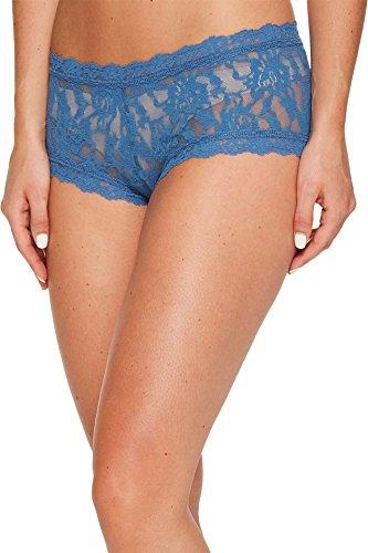 Hanky Panky Women's Signature Lace Boy Shorts, Storm Cloud Blue, ()