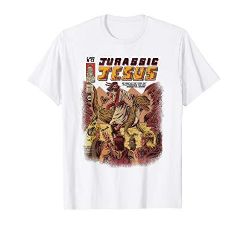 8915ee49 Jesus riding dinosaur graphic shirt al mejor precio de Amazon en ...