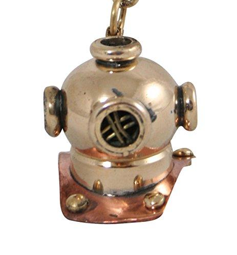 Deep Sea Diving Helmet Costume (Historical Emporium Minature Brass Divers Helmet Keychain Brass)