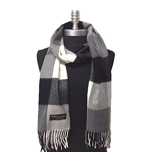 Black White Grey Scarfs For Women Classic Soft Blanket 72x12 Long Wrap Winter Tassel Shawl CC511
