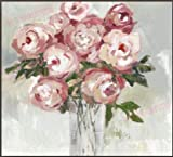 Windy Hill Collection 24' x 24' Abstract Pink & Red Roses in Vase Print Picture Painting Canvas Wall Art WA9-LE103A