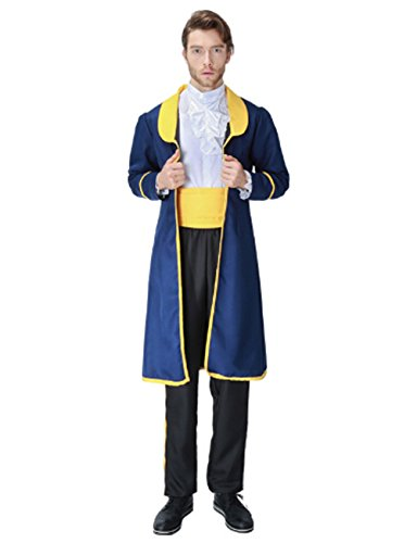 Sinastar Halloween Beast Prince Cosplay Costume Luxury Vintage Court Couple Suits (X-Large) -