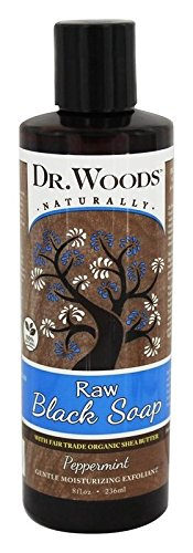 - Dr. Woods Raw Moisturizing Black Peppermint Soap with Organic Shea Butter, 8 Ounce