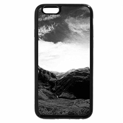 iPhone 6S Plus Case, iPhone 6 Plus Case (Black & White) - colorful sky over valley road
