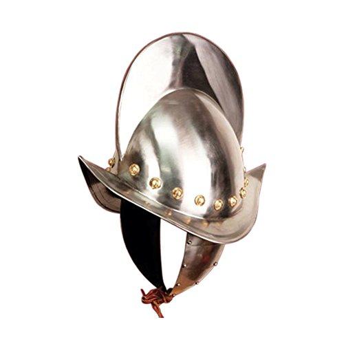 Armor Venue - Spanish Morion Helmet Renaissance Costume Helm Metallic One Size
