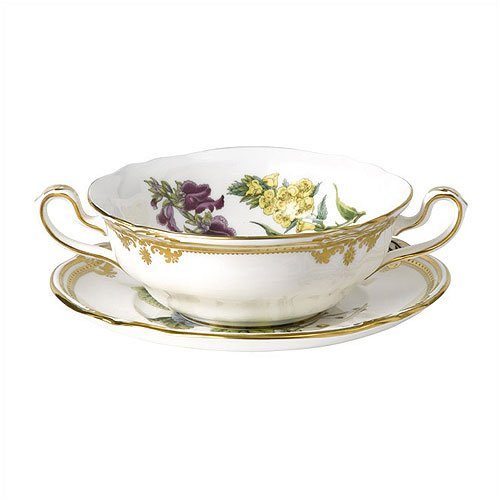Spode Stafford Flowers Cream Soup and Saucer