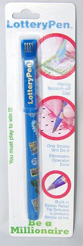 Lucky Lottery Ticket Pen / Marker with Scratch Off Card (Scratcher Tool)