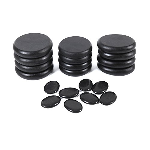 - Aboval 20Pcs Professional Massage Stones Set Natural Lava Basalt Hot Stone for Spa, Massage Therapy