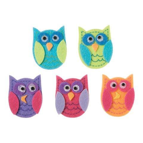 Darice Bulk Buy DIY Kids Felties Felt Stickers Funky Owl 10 Pieces (3-Pack) FLT-2783
