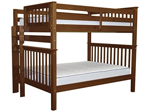 Cheap Bedz King Bunk Beds Full over Full Mission Style with End Ladder, Espresso