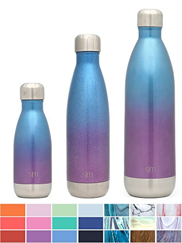48d0fe930b Simple Modern 34 oz Wave Water Bottle - Stainless Steel Hydro Swell Flask -  Wide Mouth Metal Double Wall Vacuum Insulated Reusable Aluminum 1 Liter in  32 ...