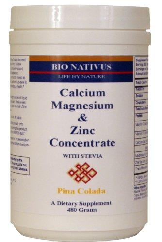 Bio Nativus Calcium Magnesium Zinc Concentrate w/ Stevia Pina Colada 480 grams ()