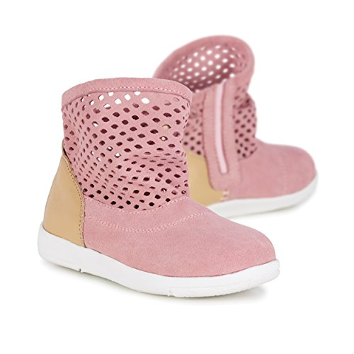 EMU Australia Kids Winter Snow Boots Numeralla Kids Cow Suede Boots in Pale Pink Size 11