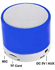 LGXJP Mini Wireless Bluetooth Speaker Support U Disk TF Card Outdoor Portable Speaker 360 Stereo Sound Speakers Subwoofer waterproof Exquisite craftsmanship, high quality sound (Color : Blue)