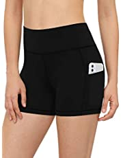Luodemiss Women's Swimsuit Shorts Two Side Pockets High Waist Swim Shorts Quick Dry Swimwear Boardshorts