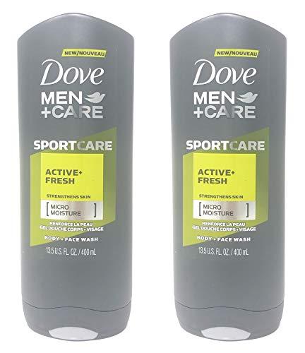 Dove Men+Care SportCare Body Wash Active + Fresh, 13.5 oz (Pack of 2) Active Sport Body Wash
