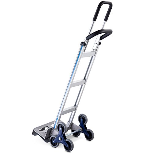 Goplus Stair Climbing Cart Heavy Duty Aluminum Climber Dolly w/6 Wheels Portable Hand Truck by Goplus (Image #9)