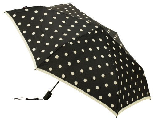 knirps-flat-duomatic-folding-umbrella-one-touch-opening-and-closing-type-polka-dot-black-knf881-490-