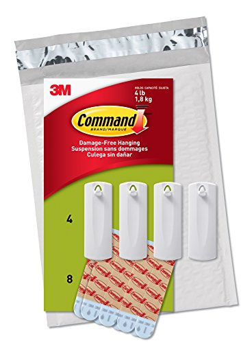 Command Picture Hanger - Command Sawtooth Picture Hangers, White, 4-Hangers, 8 Strips (PH040-4NA) - Easy to Open Packaging