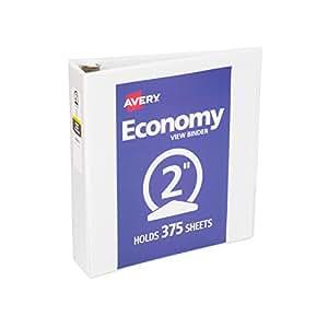 Amazon Com Avery Economy View Binder With 2 Inch Round