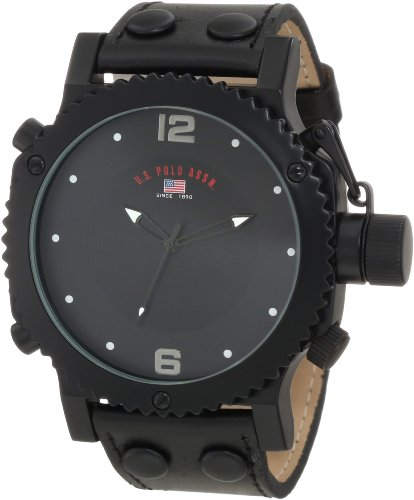 amazon com u s polo assn classic men s us5211 black analog amazon com u s polo assn classic men s us5211 black analog watch watches