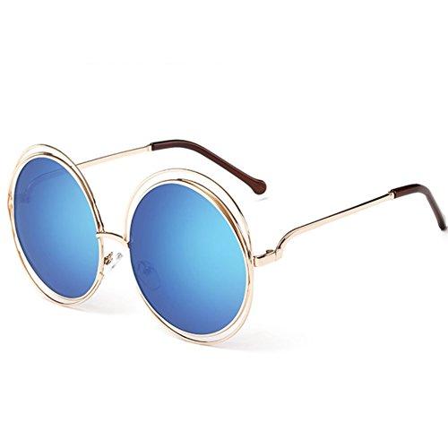 YANJING para Gafas Gafas Sol de Unisex de de 10 para UV ZYXCC Gafas Sol Protección Sol 6 Mujer Redondas Color StcSnrwgq