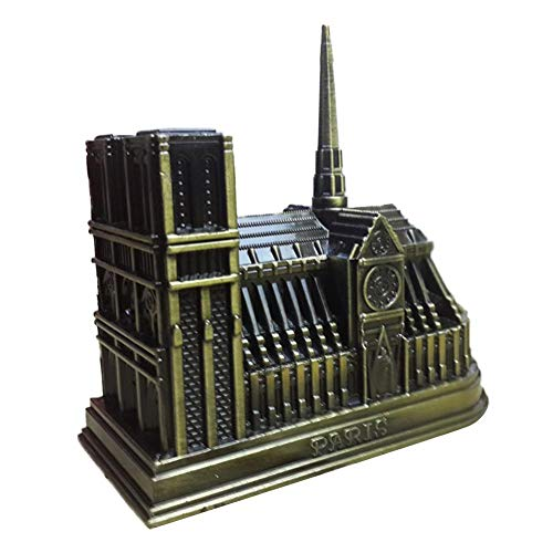 (Hainter Model Building Zinc Alloy Notre Dame de Paris Shape Decoration Model French Church Decoration Toys)