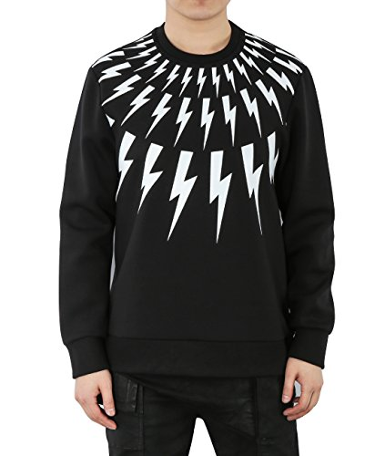 wiberlux-neil-barrett-mens-back-to-back-thunder-print-sweatshirt-m-black