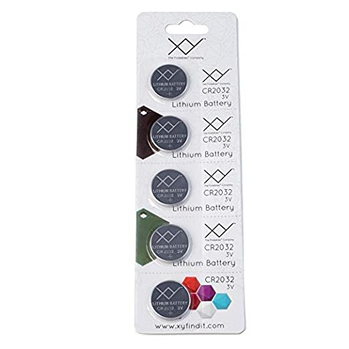 CR2032 Battery (5 Pack) | 220mAh 3 Volt (3V) Lithium Button Cell Coin Battery | Watch Batteries for Key Fobs, Garage Door Opener, TV Remote, Motherboard, Bluetooth Finders and More - Battery Opener Garage Door