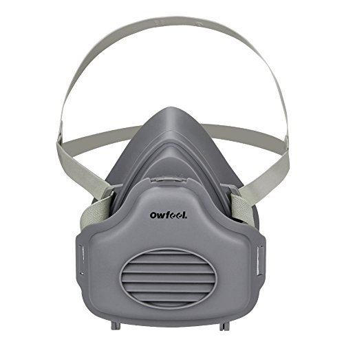 Owfeel Half Face Dust Respirator Mask with Adjustable Strap -