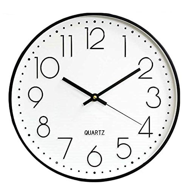 벽시계 벽 시계 멋쟁이 탁상시계 북유럽 연속 초침 정음 인테리어 괘종시계 re《핀구》 괘종시계 대숫자 보기 편리하 30cm(그레이) (화이트《고루도》)