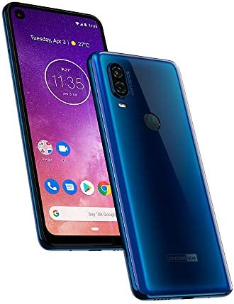Motorola One Vision (128GB) 6.3′ Full HD Display, 48MP Camera, Dual SIM US + GLOBAL 4G LTE GSM Factory Unlocked XT1970-1 – International Version (Blue)