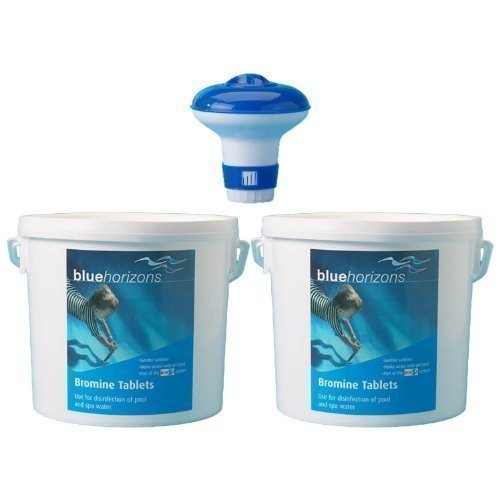 Happy Hot Tubs 10KG Bromine Tablets + Free Dispenser *QUALITY* BULK BUY Hot Tub Swimming Pool