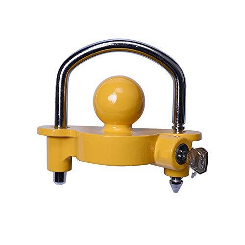 Trailer Hitch Lock Equipment Trailer Lock Lever – Anti-theft Clutch Anti-theft Box Safety Spigot Accessories – Yellow