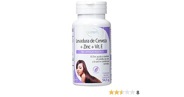SANON Levadura de Cerveza con Zinc 100 cápsulas de 545 mg