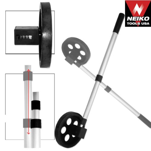 Neiko 01590A Rolling Measure Wheel | Extendable Handle | 5 Digit Display | 11 1/2'' Diameter