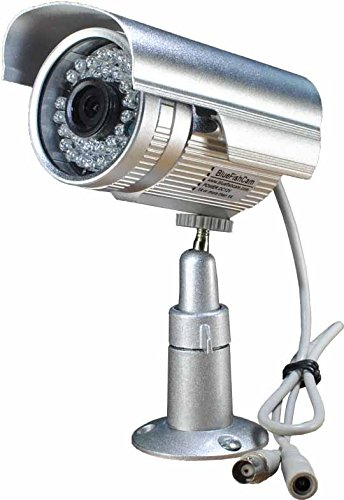 Ir Infrared Security Color Video (BlueFishCam Wide Angle Lens 2.8mm Cmos 1000TVL CCTV Security Camera 36 LED Infrared Color Waterproof With IR-CUT Day/night Vsion With Bracket)