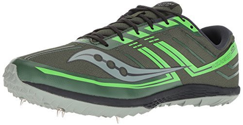 02cbac97 Saucony Men's Kilkenny XC 7 Cross Country Running Shoe, Green/Slime, 4.5 M  US