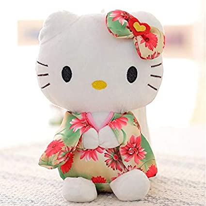 JEWH Creative Stuffed Animal Toy Hello Kitty Kimono KT Kawaii Doll Anime Toy for Girl Birthdays